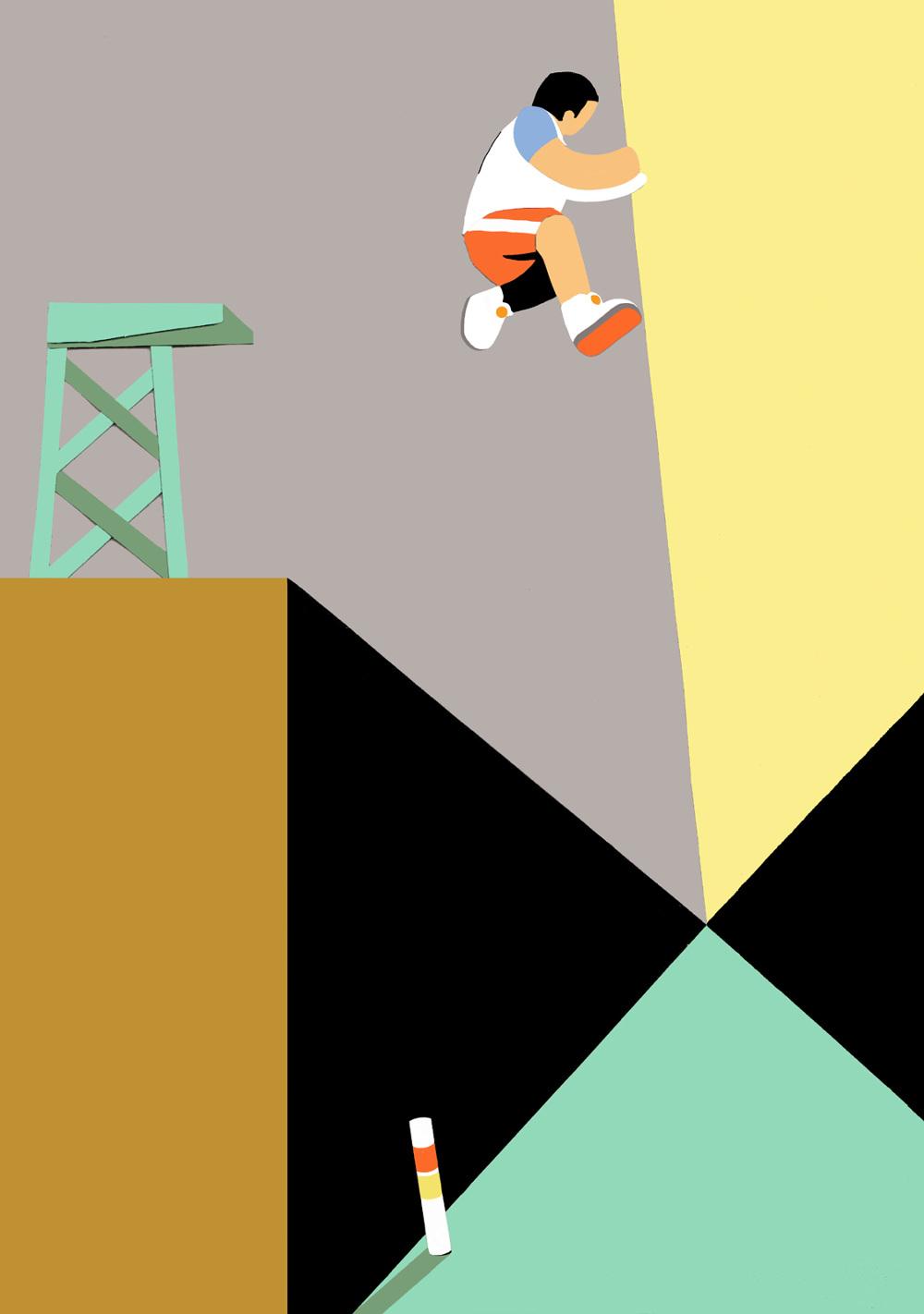 Die Fluchtpunktperspektive / Jumpman – 1988/1990 / Pierre von Helden