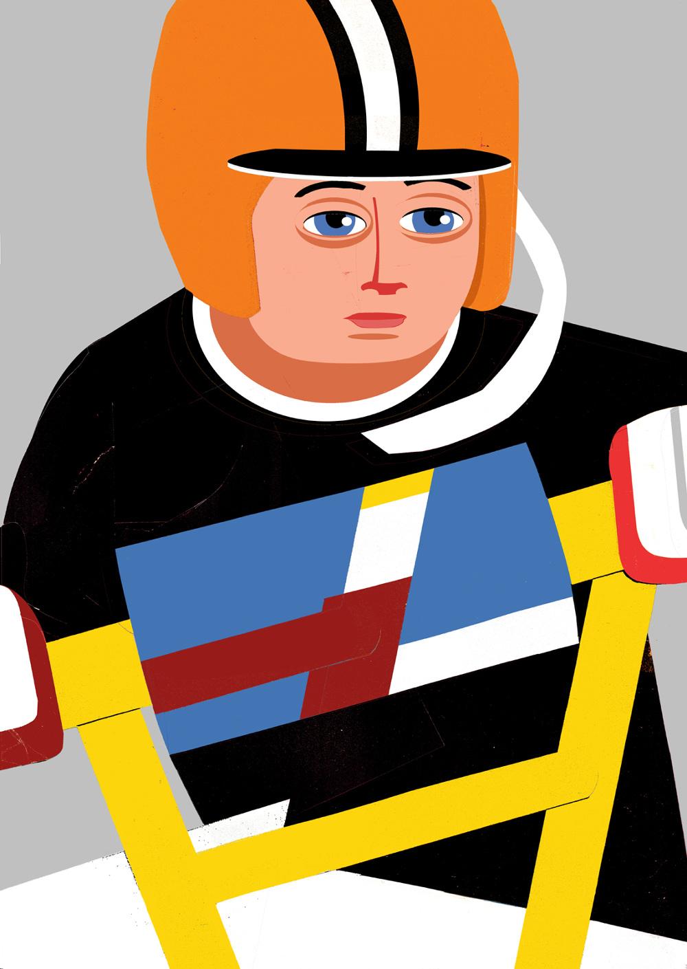 Selbstbildnis / BMX-Kid – 1993 / Pierre von Helden